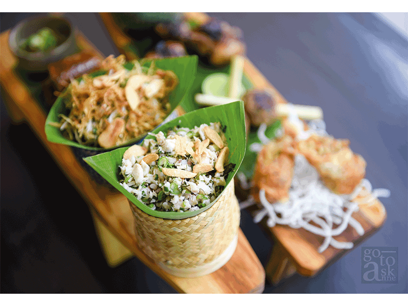 """""""Sample dishes of Lao specialties."""""""