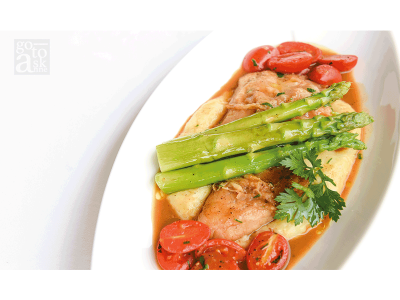 """""""Mekong River Fish Steak with Mashed Potatoes."""""""