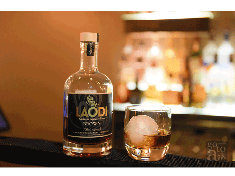 """Premium """"Laodi"""" made from sugar cane from Viantiane, considered to be the first premium rum of Laos. Smooth, aromatic, gentle mouthfeel, and a pleasing taste, plus it won't give you a pounding headache and a dehydrated body the next day.)"""