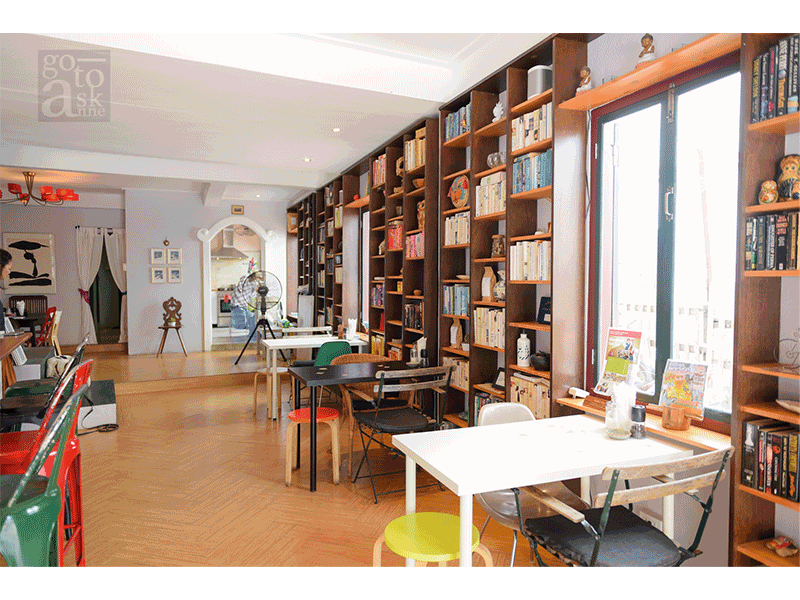 """""""Apartment-like atmosphere café where you can read, eat, and watch the world go by on the patio."""""""